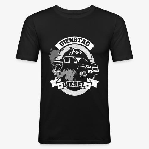 Dienstag for Diesel Fridays for Hubraum Klimakrise - Männer Slim Fit T-Shirt
