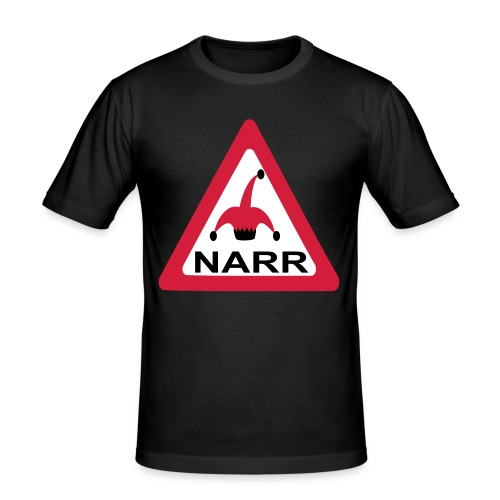 achtung vorsicht narr - Männer Slim Fit T-Shirt
