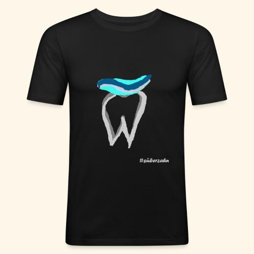 Zahn mit Pasta - Männer Slim Fit T-Shirt