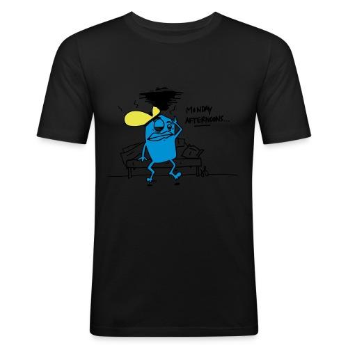 Happy monday - Mannen slim fit T-shirt
