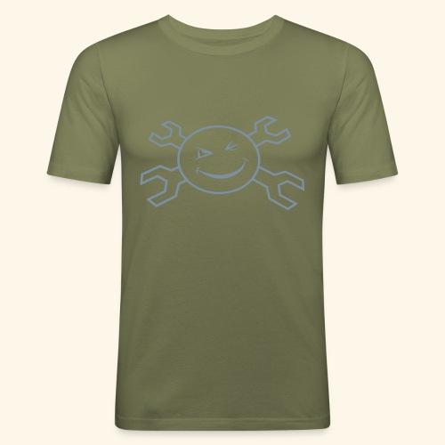 logo_atp_black - Men's Slim Fit T-Shirt