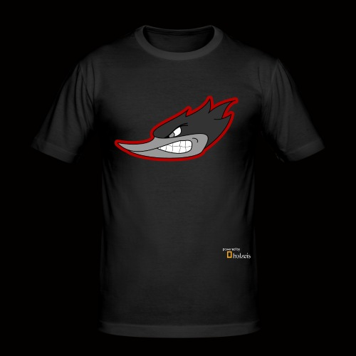Holzeis Logo powered by - Männer Slim Fit T-Shirt