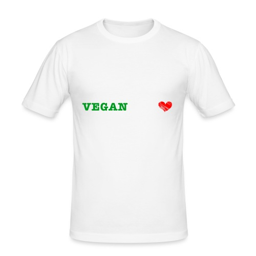 be my VEGANtine - white - Men's Slim Fit T-Shirt