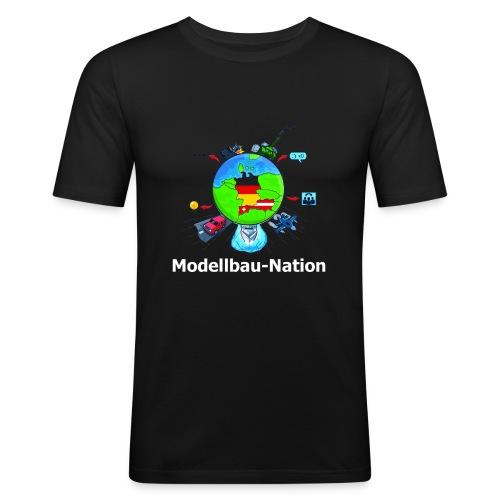 MBN Bunt Weiß - Männer Slim Fit T-Shirt