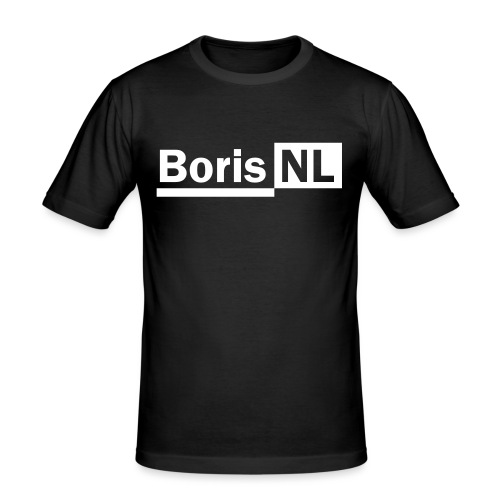 BorisNL Logo - Mannen slim fit T-shirt