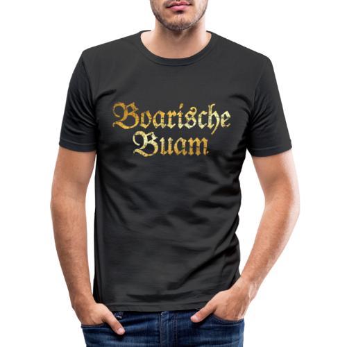 Boarische Buam - Bayerische Buben (Vintage/Gelb) - Männer Slim Fit T-Shirt