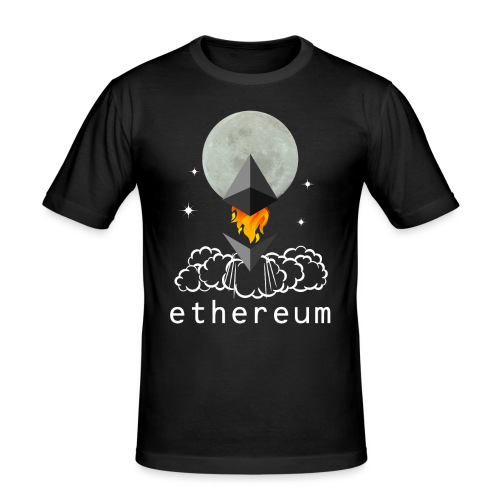 Ethereum Cryptocurrency To The Moon - Männer Slim Fit T-Shirt