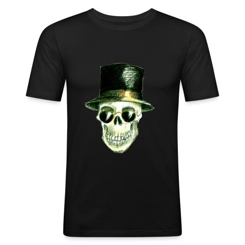 Schädel Hatter - Männer Slim Fit T-Shirt