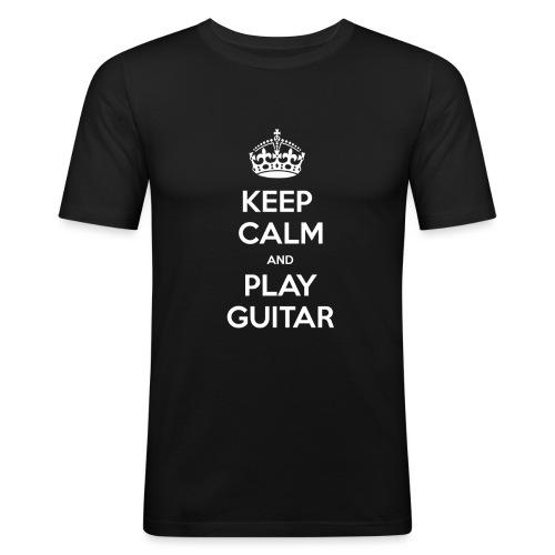 Keep Calm And Play Guitar - Maglietta aderente da uomo