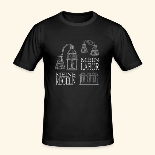 mein labor meine regeln Chemiker Forschung - Männer Slim Fit T-Shirt