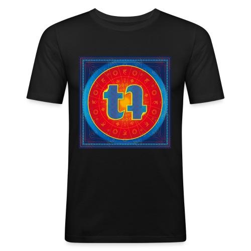 turn turQuoise Logo - Männer Slim Fit T-Shirt