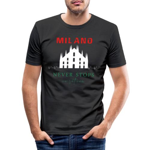 MILAN NEVER STOPS T-SHIRT - Men's Slim Fit T-Shirt