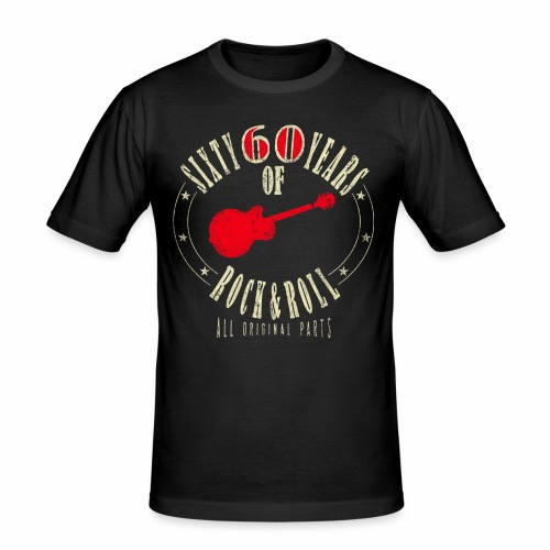 60. Geburtstag - Sixty Years Of Rock & Rol - Männer Slim Fit T-Shirt