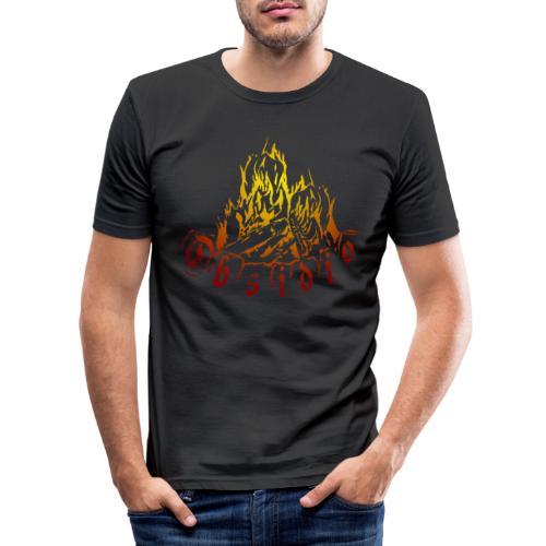 Obsidio Feuer - Männer Slim Fit T-Shirt