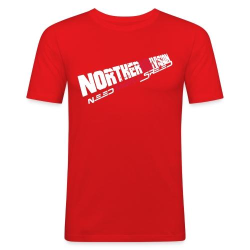 nd badg 2vari perspective - Miesten tyköistuva t-paita