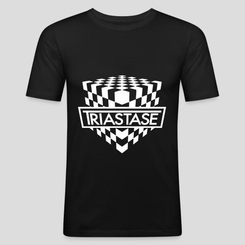 Triastase Logo White - Men's Slim Fit T-Shirt