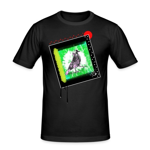 One Cool Bird by BlackenedMoonArts, w. logo - Herre Slim Fit T-Shirt