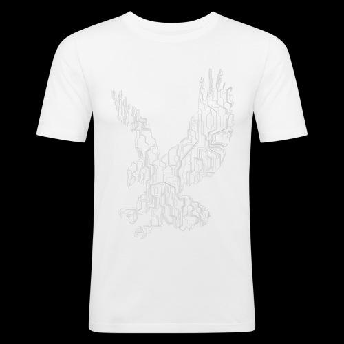 Circuit eagle White - Herre Slim Fit T-Shirt