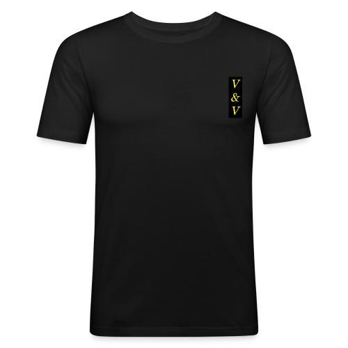 V V NOWE - Obcisła koszulka męska