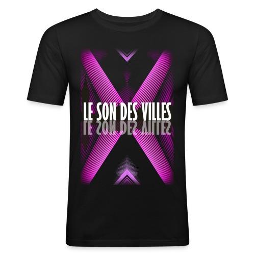 The wall - purple - by Lesondesvilles - T-shirt près du corps Homme