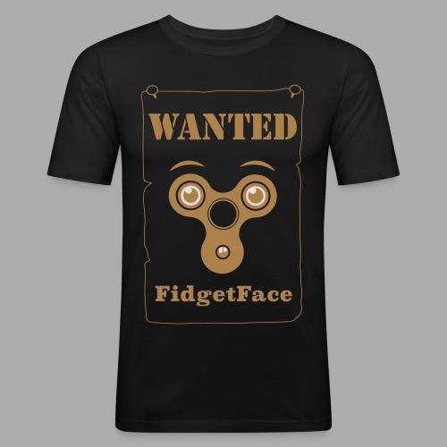 Fidget Spinner Face Wanted - Men's Slim Fit T-Shirt