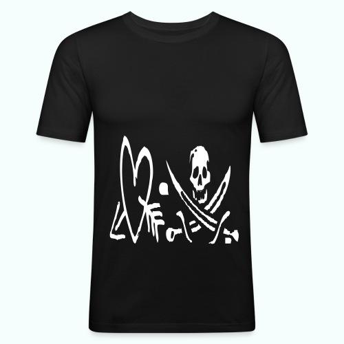 love me or hate me - Männer Slim Fit T-Shirt