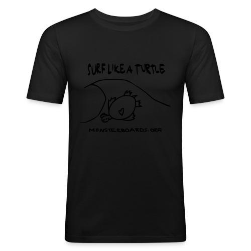 surflikeaturtle2 - slim fit T-shirt