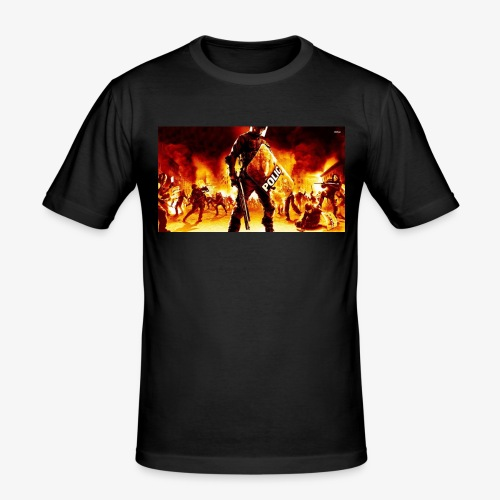 16999 riot police 1920x1080 digital art wallpaper - slim fit T-shirt
