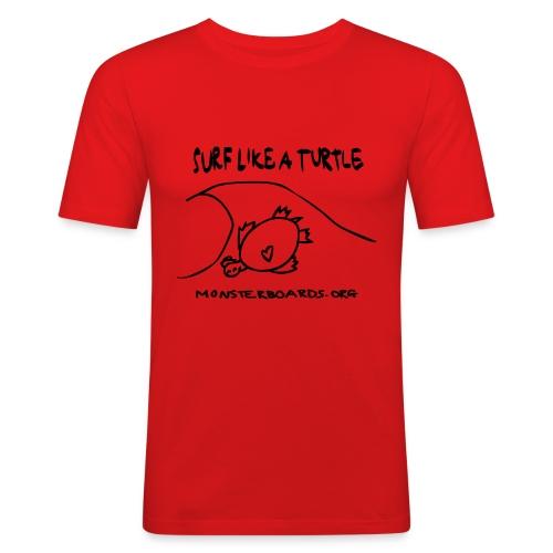 surflikeaturtle2 - Mannen slim fit T-shirt