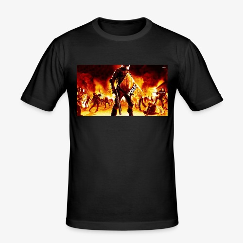 16999 riot police 1920x1080 digital art wallpaper - Mannen slim fit T-shirt