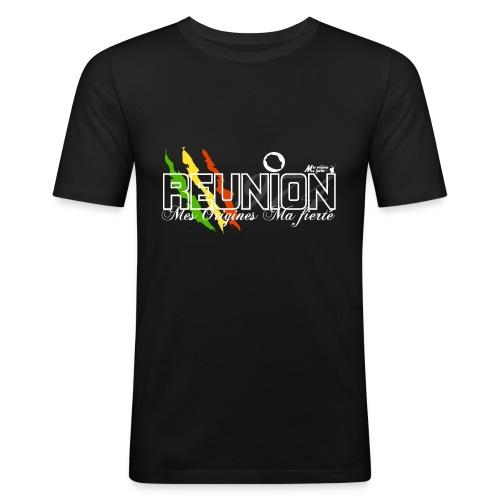 runion noir png - T-shirt près du corps Homme