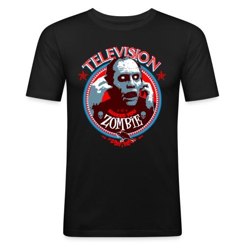 Television Zombie print png - T-shirt près du corps Homme