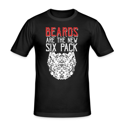 BEARDS ARE THE NEW SIXPACK - Bart Sixpack - Männer Slim Fit T-Shirt