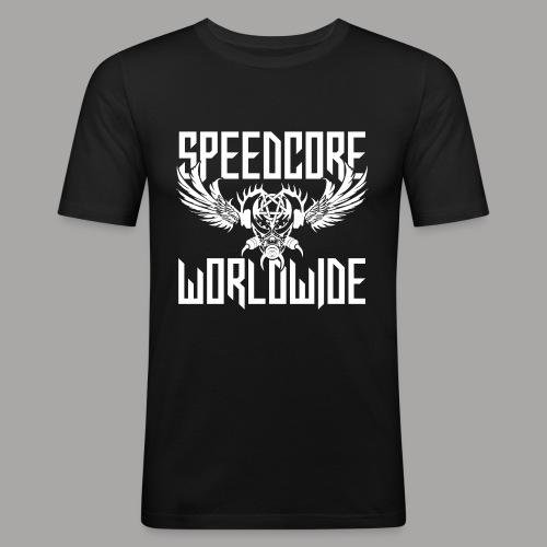 Speedcore Worldwide 2K19 - Männer Slim Fit T-Shirt