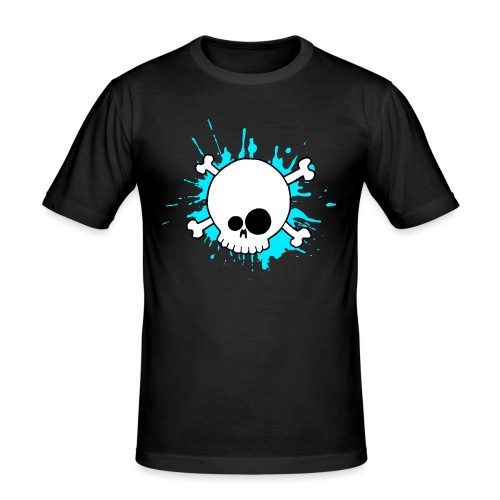 SKULL SPLASH BLEU - T-shirt près du corps Homme