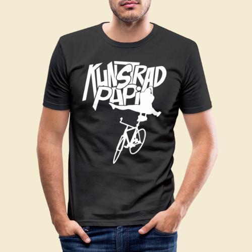 Kunstrad | Artistic Cycling - Kunstrad Papi white - Männer Slim Fit T-Shirt