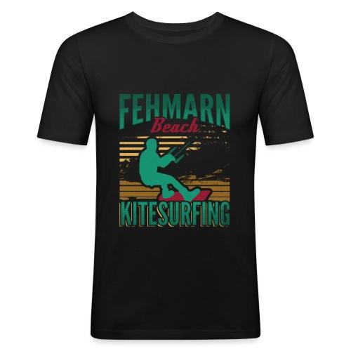 Kitesurfing Fehmarn - Männer Slim Fit T-Shirt