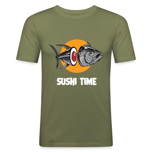 SUSHI TIME-tonno-b - Maglietta aderente da uomo