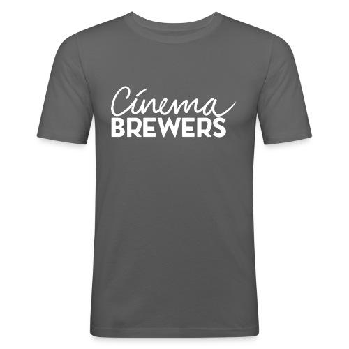 Cinema Brewers - Mannen slim fit T-shirt