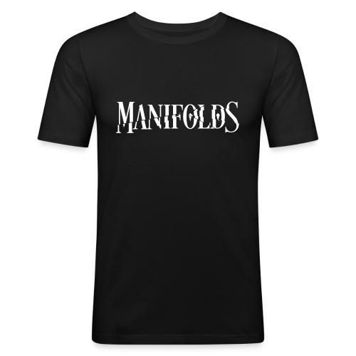 Manifolds (Black) - Men's Slim Fit T-Shirt