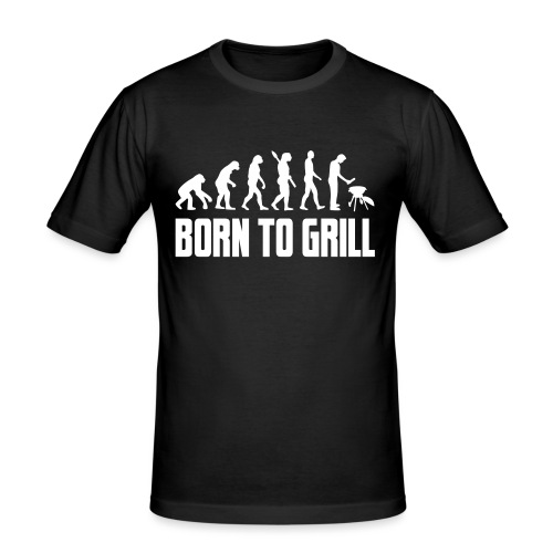 born to grill evolution - Männer Slim Fit T-Shirt