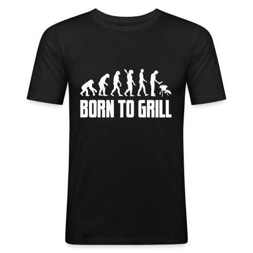 born to grill evolution - Männer Slim Fit T-Shirt