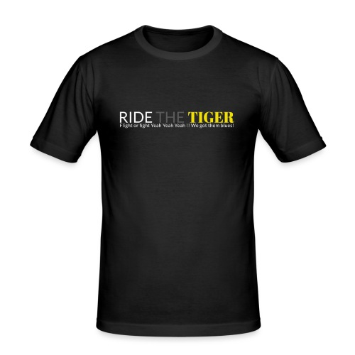 Logo Ride the tiger white-grey-yellow - T-shirt près du corps Homme