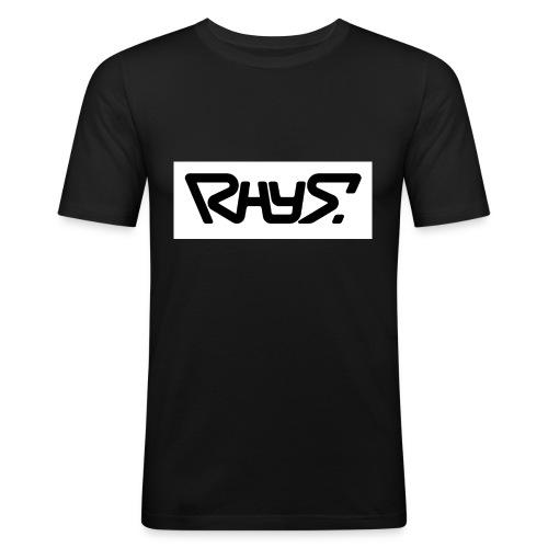 rhys basic logo black jpg - Men's Slim Fit T-Shirt