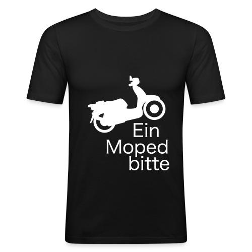 EinMopedBitteWhite png - Männer Slim Fit T-Shirt