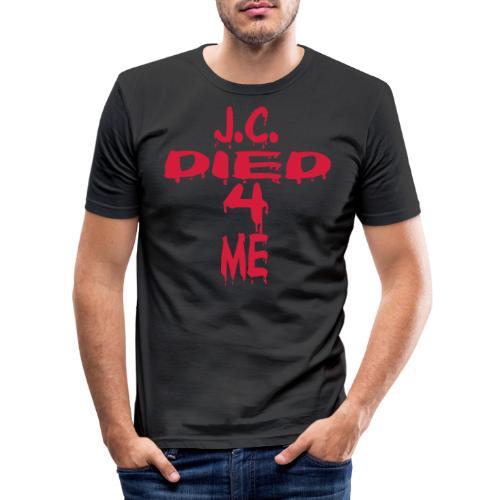 J.C.Died 4 Me - Cross - Männer Slim Fit T-Shirt