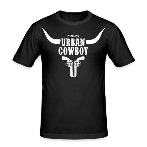 Portless Urban Cowboy - Männer Slim Fit T-Shirt
