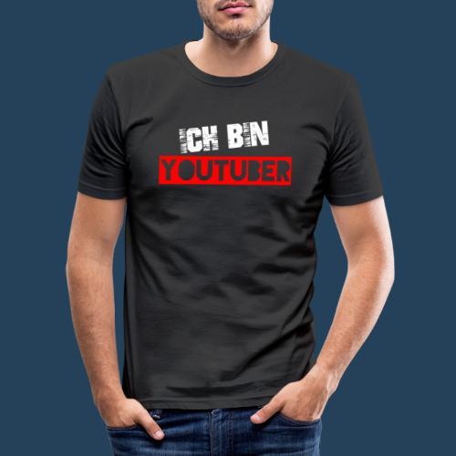 Ich bin Youtuber! (for dark shirts) - Männer Slim Fit T-Shirt