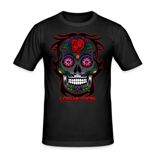 Low Motion Face Gray - Camiseta ajustada hombre