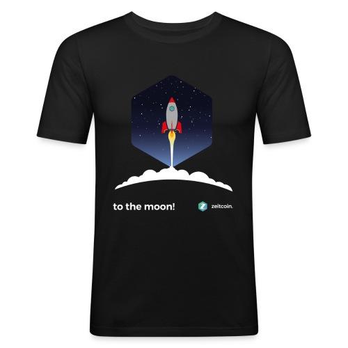 zeit to the moon - Men's Slim Fit T-Shirt